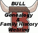 This ring brings together websites with Bull surname genealogy or family history and websites by family members. If you have a webpage with Bull genealogical information or family history, you are invited to join. If you have more than one, you may add all of them.