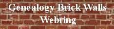 Genealogy Brick Walls Webring